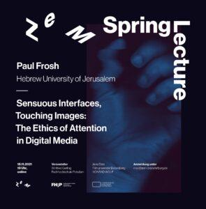 Plakat ZeM-Spring Lecture, quadratisch